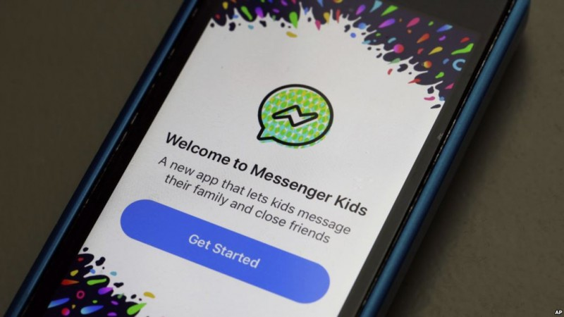 The Facebook Kids app  -------  in New York,  Friday, Feb. 16, 2018. (AP Photo/Richard Drew)