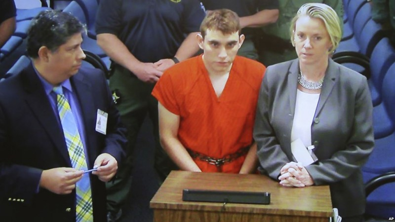 Suspected school shooter Nikolas Cruz makes a video appearance in Broward County court before Judge Kim Theresa Mollica.  Cruz is facing 17 charges of premeditated murder in the mass shooting at Marjory Stoneman Douglas High School in Parkland. ...SOUTH FLORIDA OUT; NO MAGS; NO SALES; NO INTERNET; NO TV...