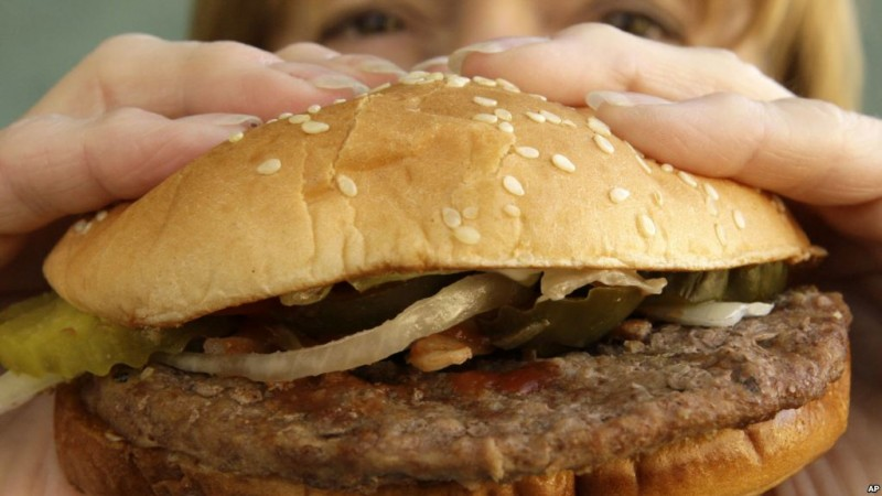 HOLD FOR BUSINESS PHOTO-DAN GOLDMAN-- This is a Burger King Whopper sandwich at a Burger King in Allison Park, Pa., on Oct. 26, 2009. (AP Photo/Gene J. Puskar)