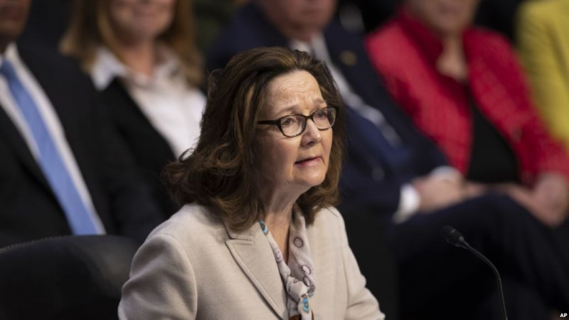 Gina Haspel, President Donald Trump's pick to lead the Central Intelligence Agency, testifies at her confirmation hearing before the Senate Intelligence Committee, on Capitol Hill in Washington, Wednesday, May 9, 2018. Haspel, a 61-year-old career undercover spy, is a 33-year veteran at the agency in foreign and domestic assignments, and if confirmed, would be the CIA's first female director.  (AP Photo/J. Scott Applewhite)