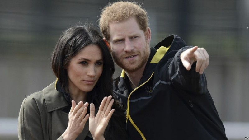 Photo by: KGC-55/STAR MAX/IPx 2018 4/6/18 Prince Harry and Meghan Markle at the Invictus UK Team Trials in Bath.
