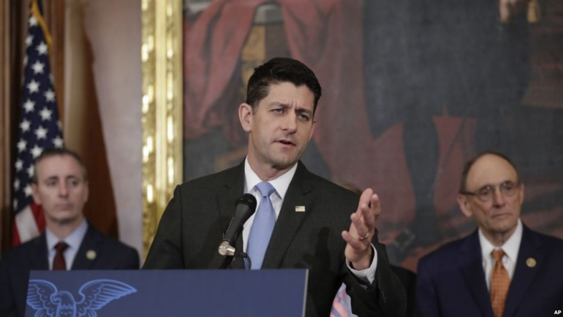 Speaker of the House Paul Ryan, R-Wis., takes questions from reporters about the meetings at the Justice Department planned for today where House and Senate lawmakers from both parties are set to meet with top intelligence officials for classified briefings about the federal investigation into President Donald Trump's 2016 campaign, on Capitol Hill in Washington, Thursday, May 24, 2018.  (AP Photo/J. Scott Applewhite)