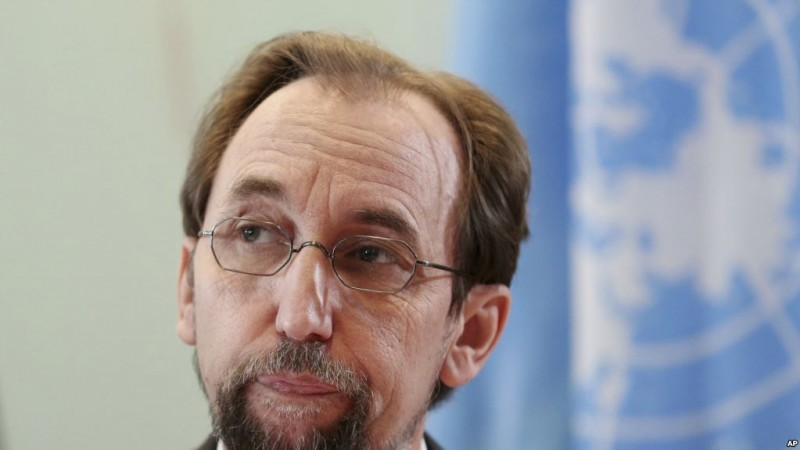 "UN human rights chief Zeid Ra'ad al-Hussein pauses during a press conference in Jakarta, Indonesia, Wednesday, Feb. 7, 2018. al-Hussein said ""strains of intolerance"" once thought alien to Indonesia are making inroads in the world's most populous Muslim nation and warned the government against criminalizing its LGBT citizens. (AP Photo/Dita Alangkara)"
