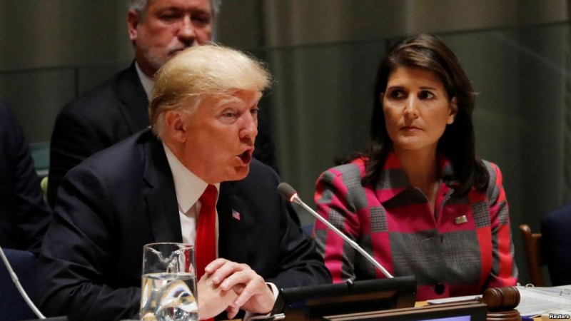 Donald Trump con Nikki Haley